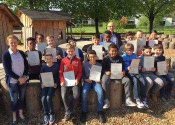 Klasse des Zyklus 4.1. der Grundschule Colmar-Berg